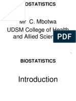 Biostatistics Introduction 1