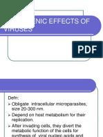 Pathogenic Effects of Viruses