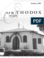 Summer 2003 Orthodox Vision Newsletter, Diocese of the West