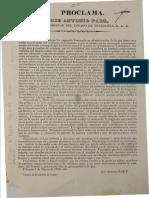 Proclama - Jose Antonio Paez