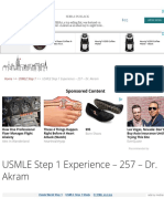 USMLE Step 1 Experience - 257 - Dr. Akram - USMLE Experiences & Best Books for USMLE Preparation