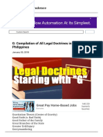 G Compilation of All Legal Doctrines in the Philippines