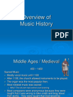 Music History Overview