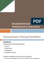 Kesamarataan Peluang Pendidikan Di Malaysia 10