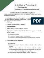 Industrial Training Report Format