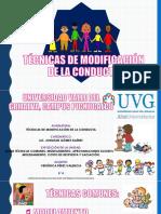 EXPOSICION DE TECNICA DE MODIFICACIÓN DE LA CONDUCTA