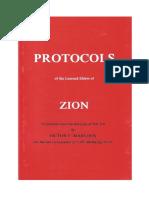 De Protocollen Van de Wijzen Van Zion