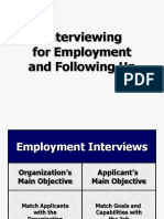 Interviewing_for_Employment_an.ppt;filename= UTF-8''Interviewing for Employment and Following-up-1