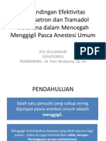 Perbandingan Efektivitas Ondansetron Dan Tramadol Intravena Dalam Mencegah