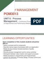 QM - Lecture 6 - Process Focus (1)