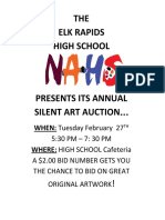 silent art auction small poster