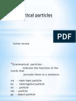 Lesson 1Grammatical Particles