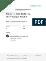 Na Metropole Textos de Antropologia Urbana