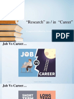 Research as Career