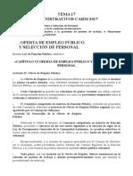 Tema 17 - Oferta Empleo, Adquisición y Perdida, Situaciones Administrativas