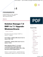 Solution Manager 7.0 EHP1 to 7.1 Upgrade- Windows-Oracle - Blog About SAP Issues & Resolutions