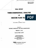Three-dimensional Analysis of Inducer Fluid Flow