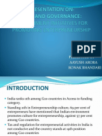 Government Initiatives for Promoting Enterpreneurship