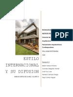 El Estilo Internacional y su Difusion.
