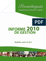 Informe de Gestion Proantioquia 2010