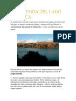 La Leyenda Del Lago Titicaca