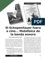 Alvarado Carlos-Si Schopenhauer Fuera Cine Metafisica Banda Sonora