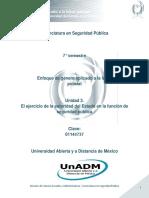 Unidad 3. El Ejercicio de La Autoridad Del Estado en La Funcion de Seguridad Publica