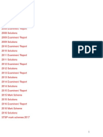 STEP真题答案2004-2017