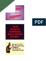 Celoteh Bahasa Jawa