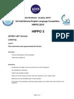 Hippo 3 Listening 2015