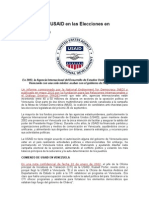 Injerencia de USAID en Las Elecciones en Venezuela