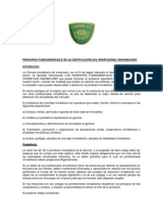 Principios Fundamentales Certificacion Del Corredor