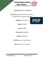 Proyecto Grupos Electogenos Tercero Manual