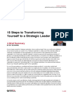15 Steps to Transforming Yourself to a Strategic Leader