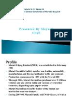 36957179 Mayank Maruti Ppt