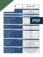Especificaciones Ble3216rt TEc