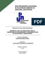 Jasandoval_proyecto de Intervención Comprensión Lectora