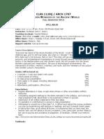 CLAS 1120Q Syllabus - Seven Wonders-Fall 2015-3.docx