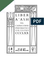 Crowley - Liber A'ash vel Capricorni Pneumatici sub figurâ CCCLXX
