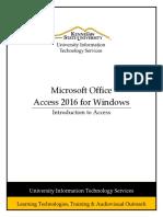 Access 2016 Pc Intro to Access Scxg176