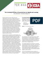 Learning Portfolio General Idea
