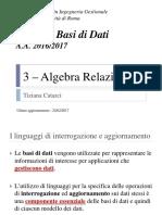 3 Algebra Relazionale