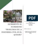 PROBLEMAS DE LA INGENIERÍA CIVIL EN EL QUINDIO