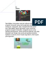 Pengertian Text Editor
