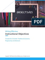 writing objectives teaching booklet - google docs