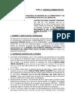 Denuncia Administrativa Ante INDECOPI