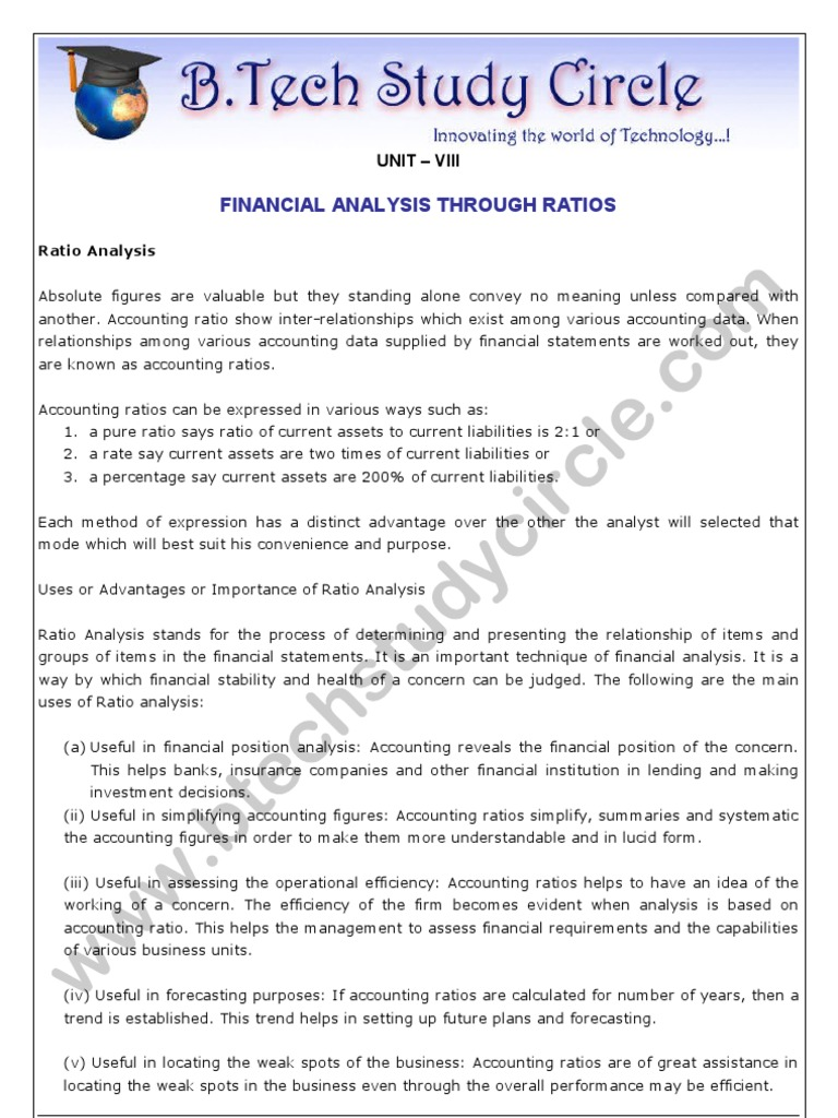 Financial analysis is what is the purpose of financial analysis 8