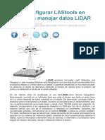 Cómo Configurar LAStools en QGIS Para Manejar Datos LiDAR