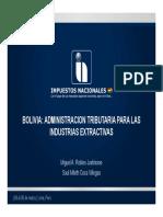 Administracion Tributaria Para Las Industrias Extractivas