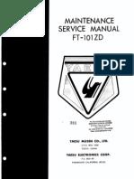 Yaesu FT-101ZD Service Manual